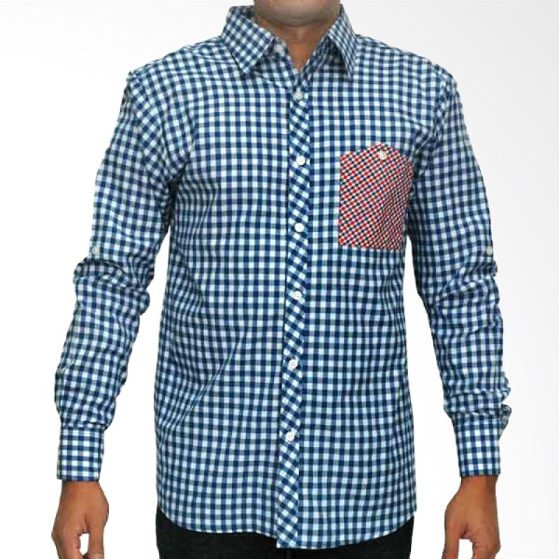 My Doubleve Checkered Shirt Blue