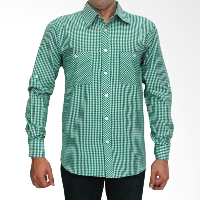 My Doubleve Checkered Shirt Green