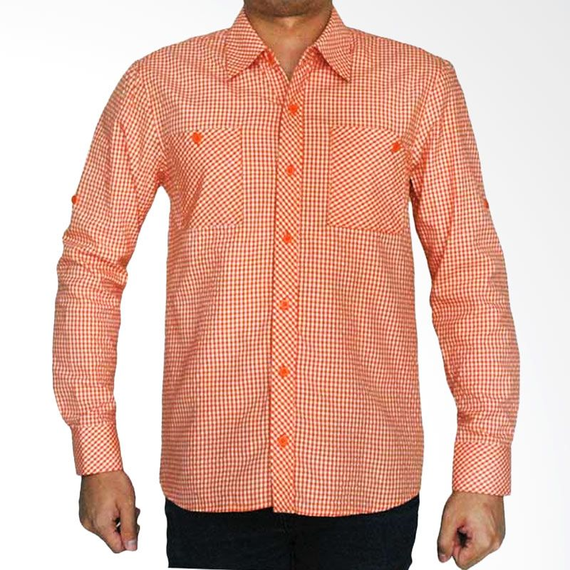 My Doubleve Checkered Shirt Orange