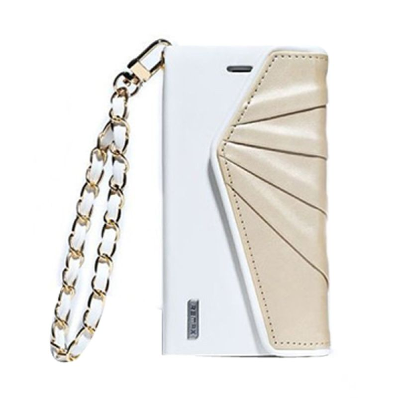 Remax Bouf Fancy Leather White Gold Casing for iPhone 6