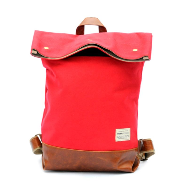 Remax Double 207 Retro and Fashion Red Tas Ransel Backpack