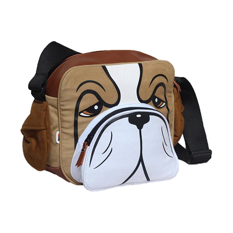 Mydog Indonesia Dog face Messenger Bag - Bulldog