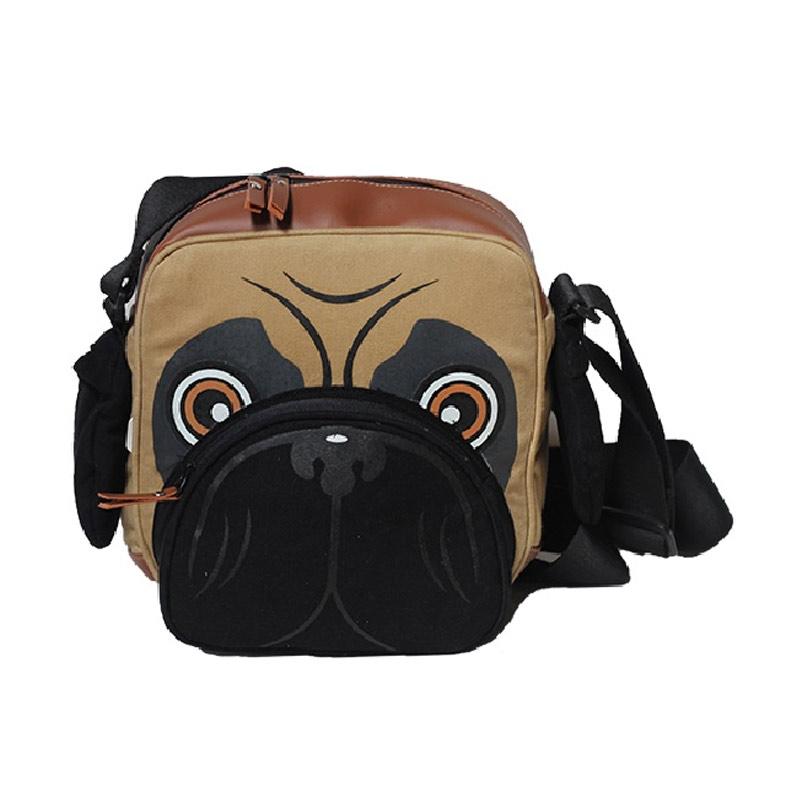 Mydog Indonesia Dog Face Messenger Bag - Pug