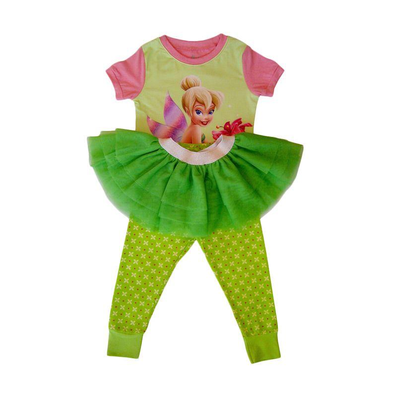Gleoite Wardrobe (GW) Tutu Skirt Tinker Bell Hijau Setelan Anak Perempuan