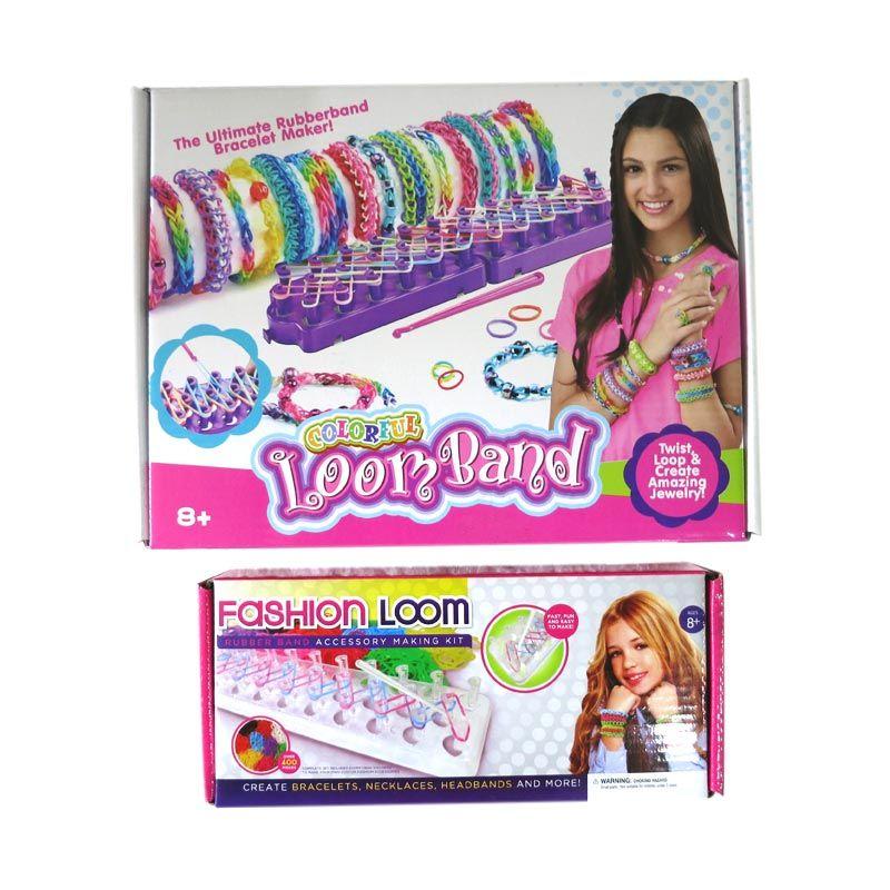 7L Paket Loom Band 3 Mainan Anak