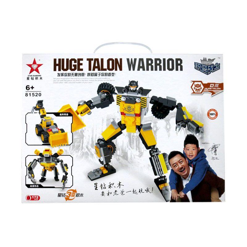Mynasional Blok Robot Transformer 3 in 1 Huge Talon Warrior Mainan Anak