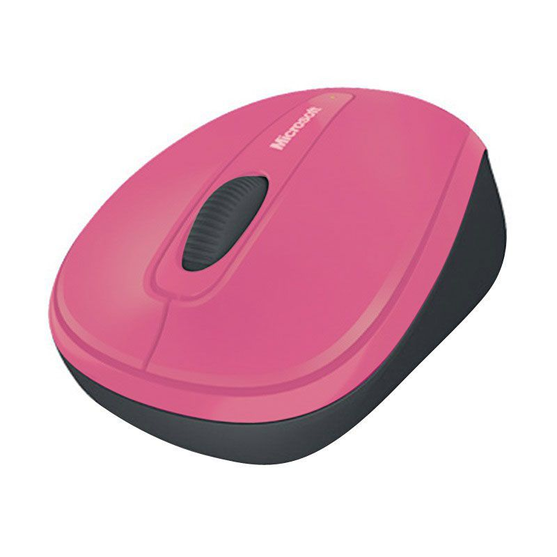 Microsoft wireless mobile mouse 3500 bluetrack mac/win usb nano receiver dahlia pink