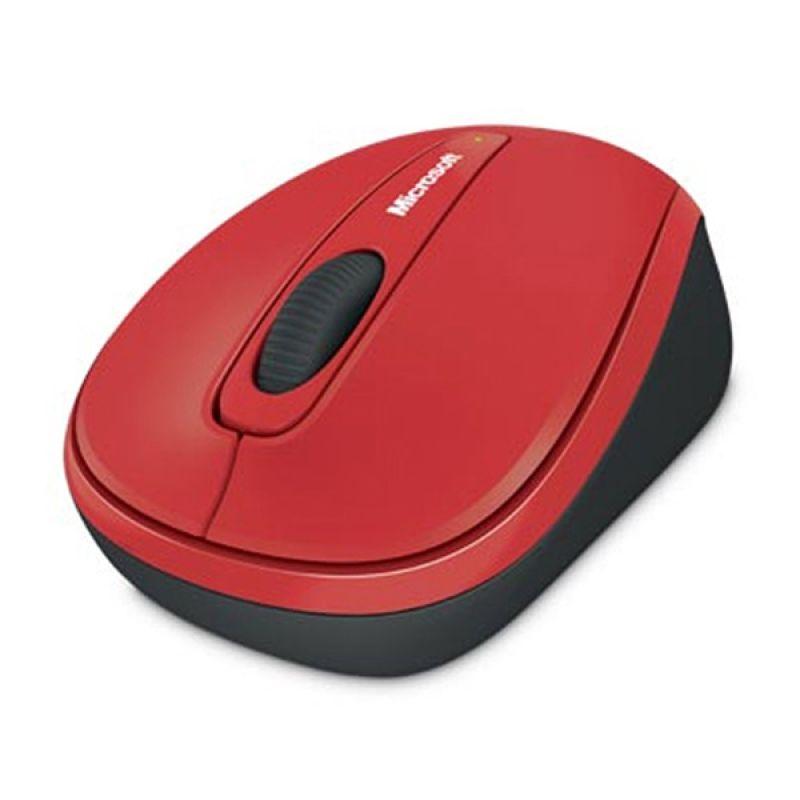 Microsoft wireless mobile mouse 3500 bluetrack mac/win usb nano receiver poppy red