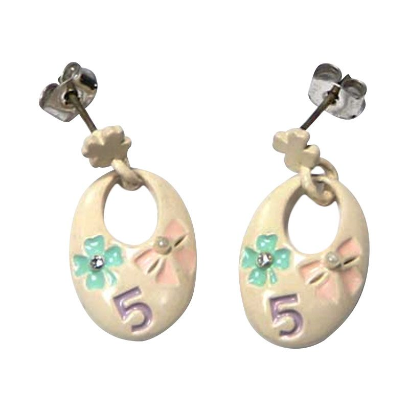 Myth Couture Beige Oval Earring
