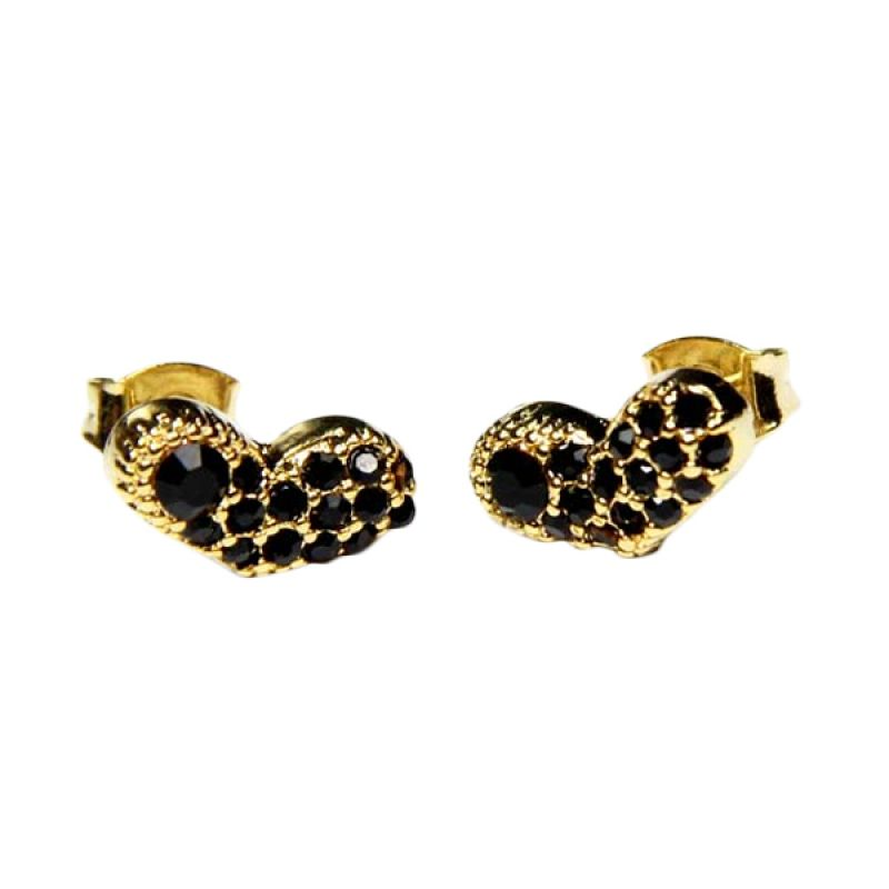 Myth Couture Black Heart Frackles Earring