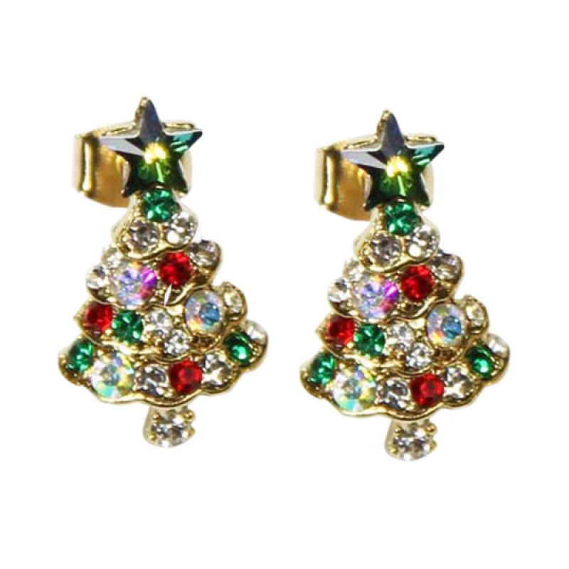 Myth Couture Blink Xmas Earring Green