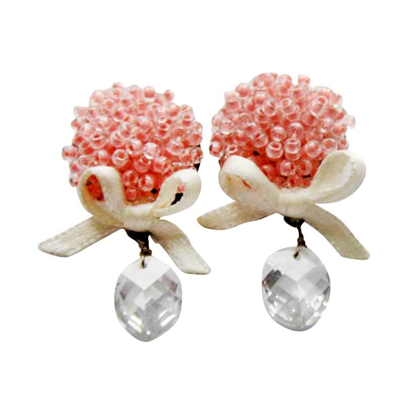 Myth Couture Bouquet Flower Pink Earring