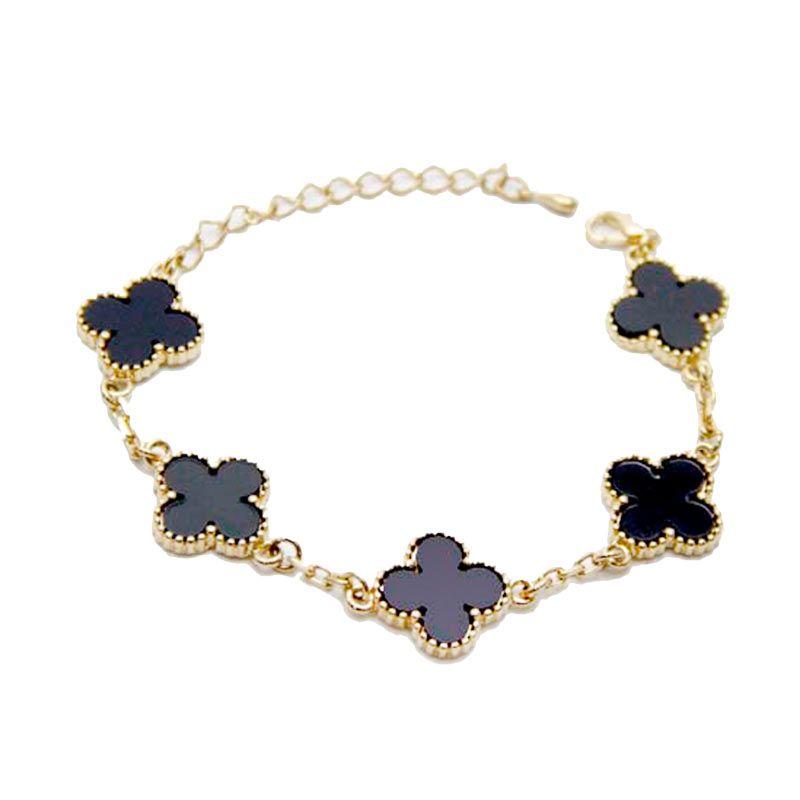 Myth Couture Clover Onyx Bracelet