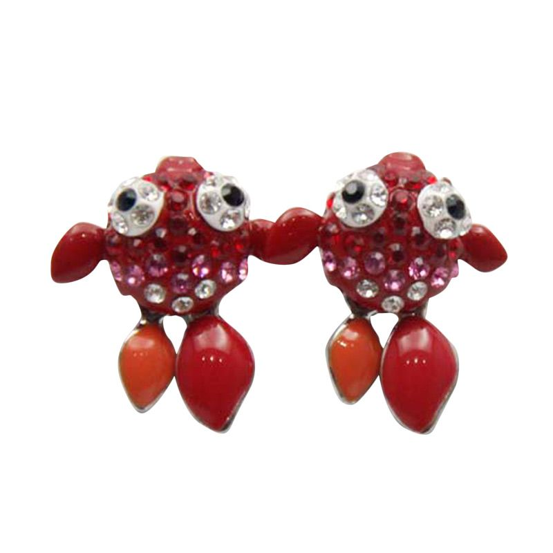Myth Couture Cook Fish Red Earring