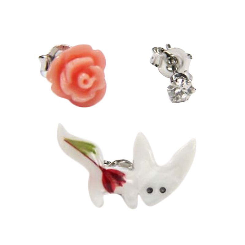 Myth Couture Cute Animal Mix Earring