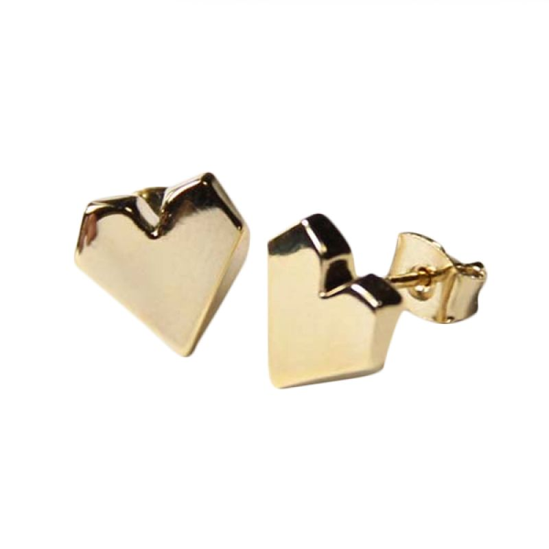 Myth Couture Gold Heart Earring