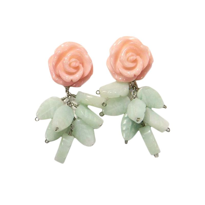 Myth Couture Pastel Rose Earring