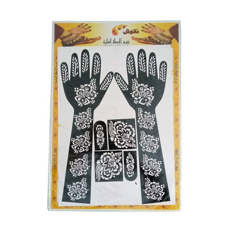 Jual Nabawi Cetakan Henna Tangan Full Hitam Online Harga