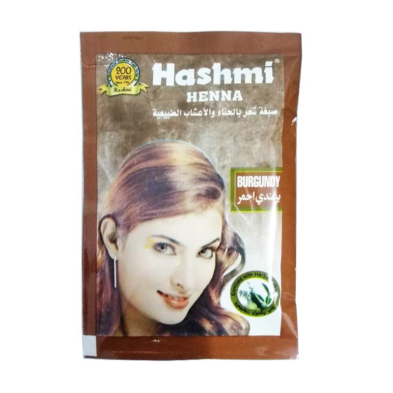 Jual Nabawi Hashmi Henna Semir Rambut Burgundy Cek Harga Di