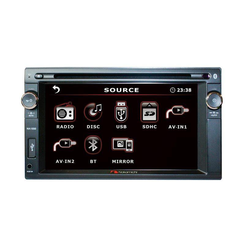 harga Nakamichi NA 1550i Double Din Head Unit Mobil [6.2 inch] + Free Rear Camera Blibli.com