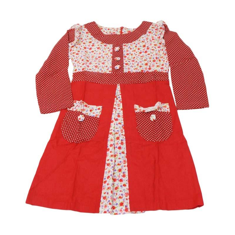 Jual Namuslimah Kecil Gkb 2 Baju Muslim Anak Merah