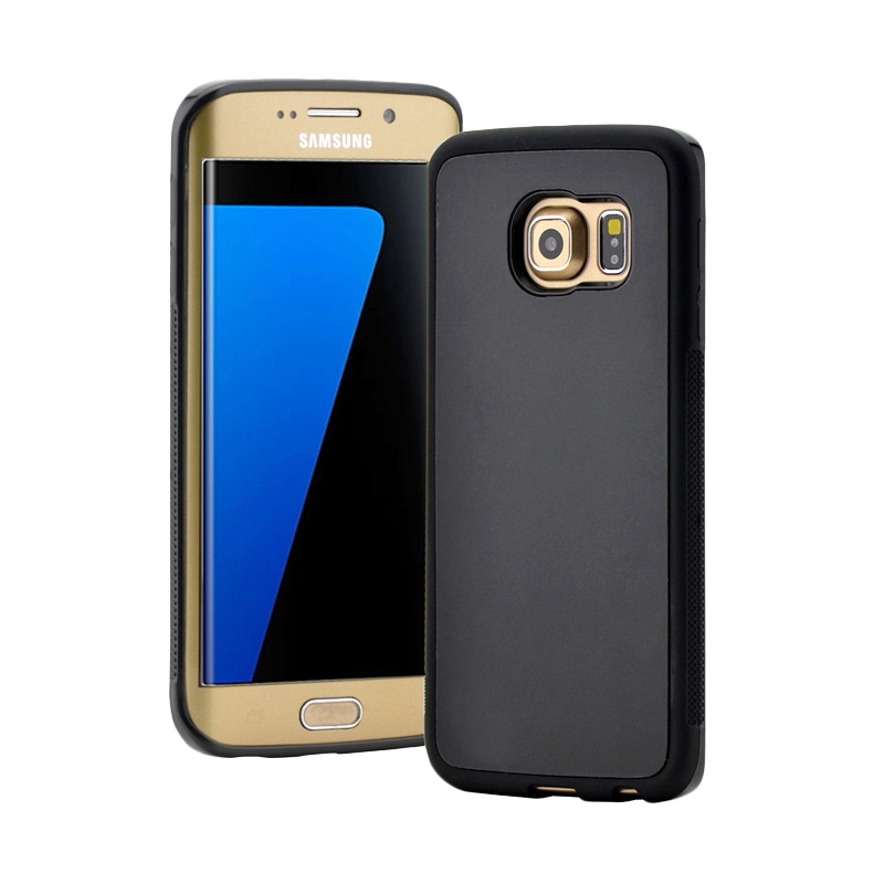 Anti Gravity Case / Nano Suction / Casing Tempel Unik Murah Samsung Galaxy S7 - Hitam