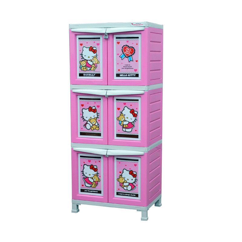 Napolly Lemari BCBC-163 HKBF Hello Kitty Series [3 Susun]