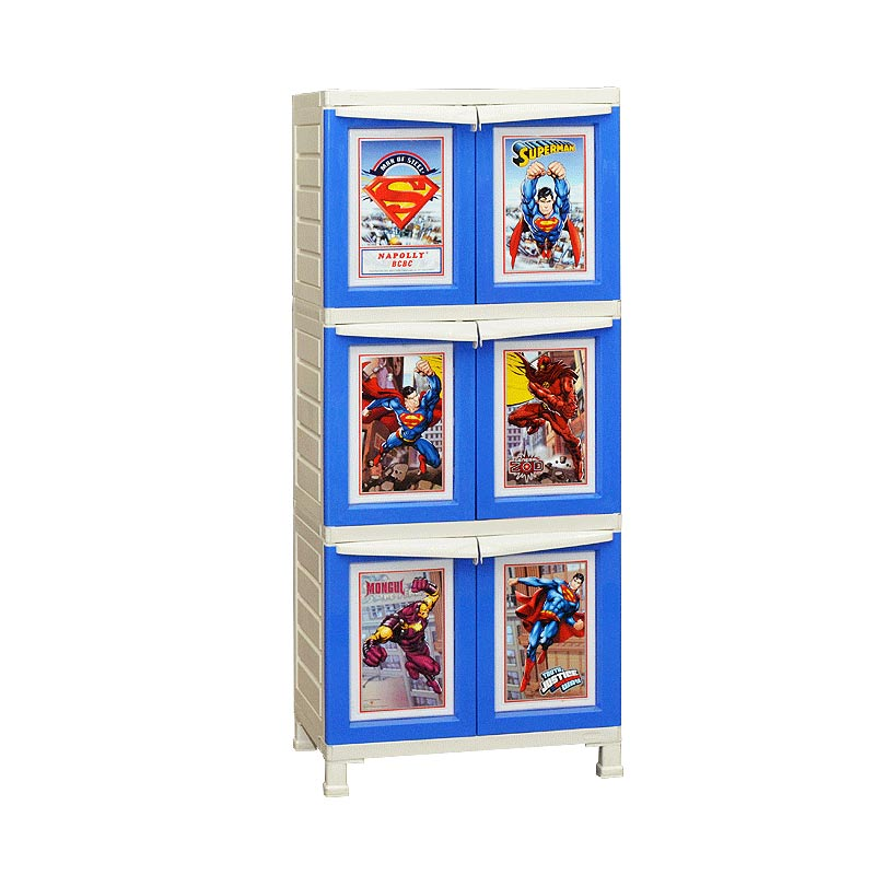 Napolly Lemari BCBC-163 S-man Superman Series [3 Susun]