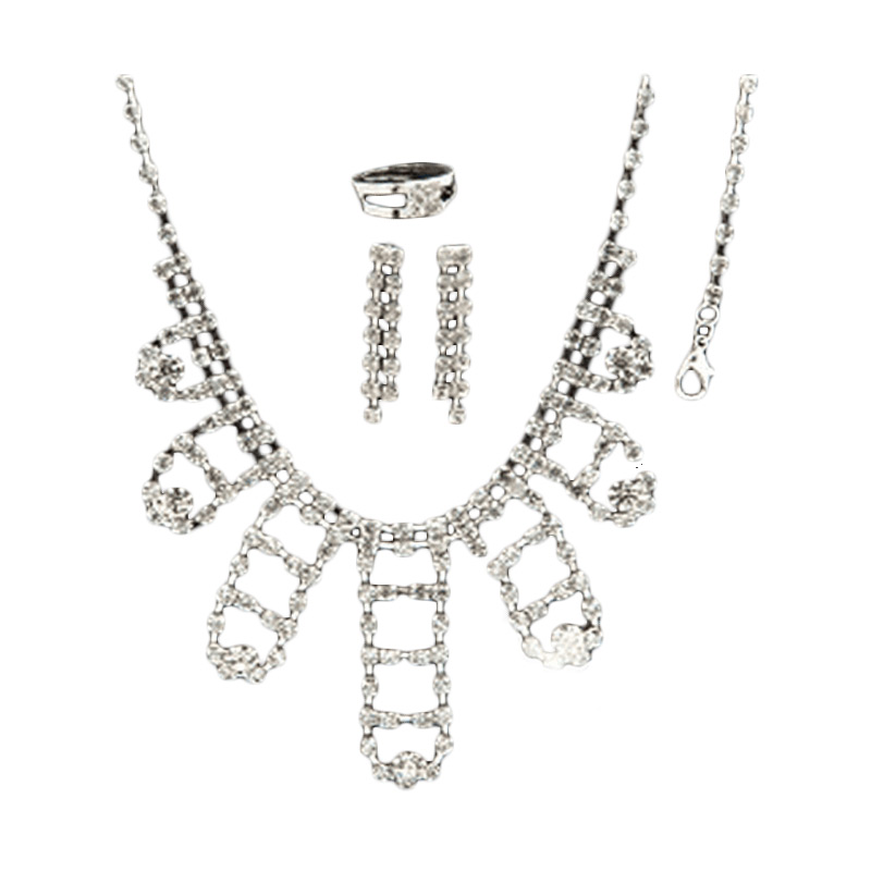 Nataria 33510 - Necklace with Bracelet, Ring & Earing Set Perhiasaan
