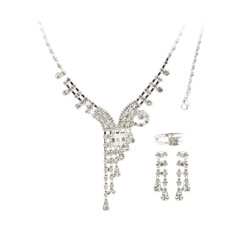 Nataria 33511 - Necklace with Bracelet, Ring & Earing Set Perhiasan
