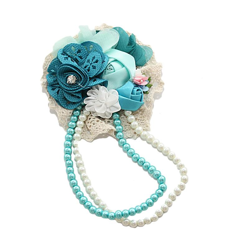 Nathanie Flower Charm Blue Bros