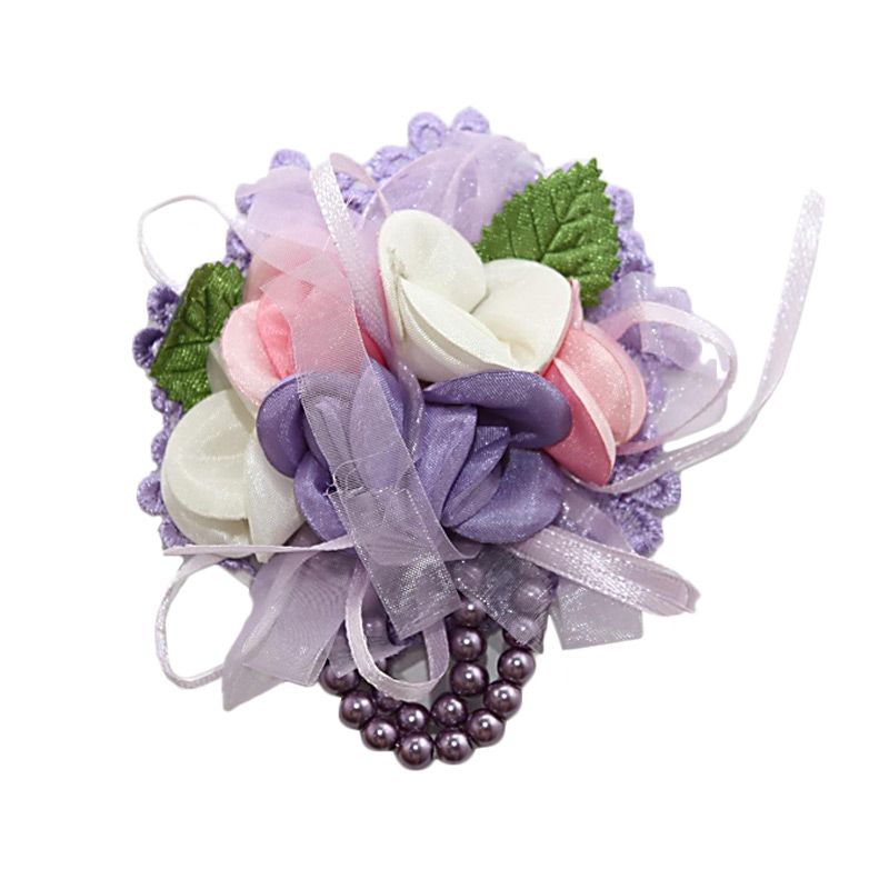 Nathanie Ribbon Flowers Purple Bros