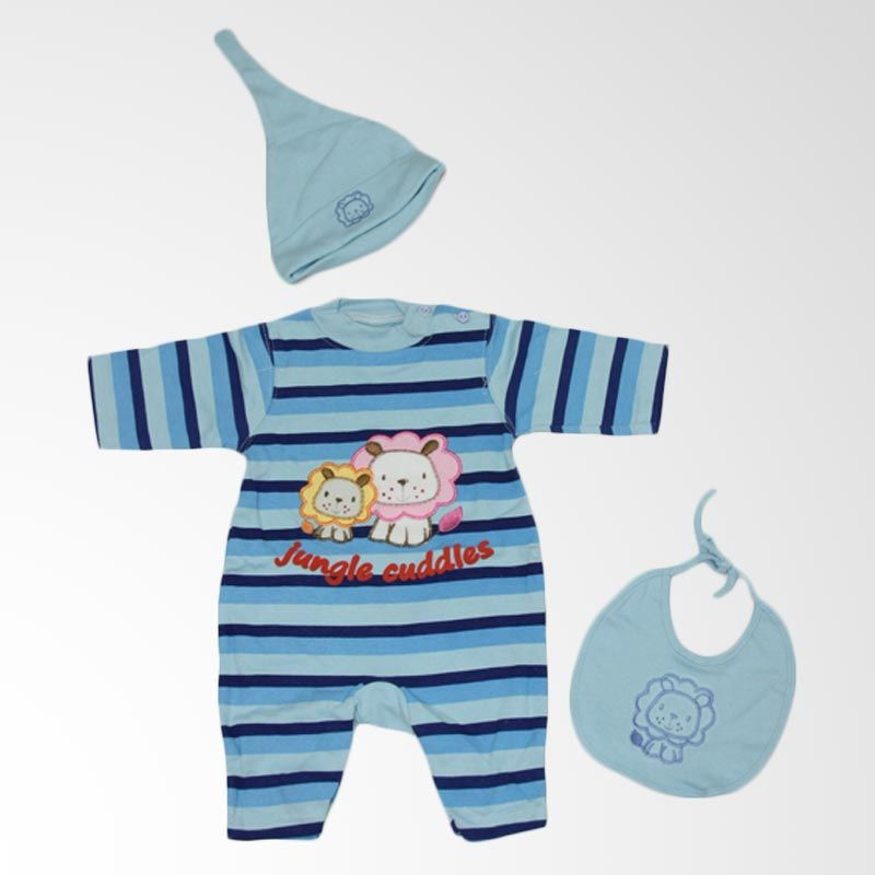 Nathanie Cuddles Jungle Blue Jumpsuit Bayi