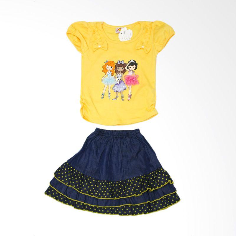 Nathanie 3 Girls Yellow Setelan Anak Perempuan