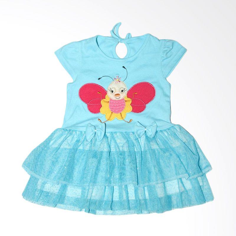 Nathanie Baby Bee Blue Dress Bayi