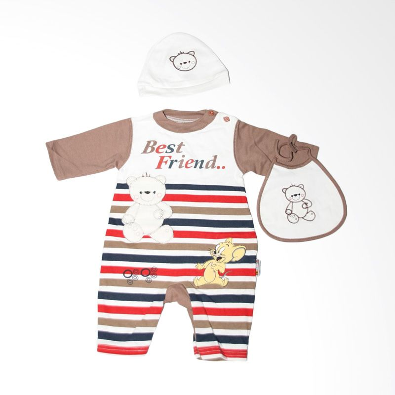 Nathanie Baby Best Friend Brown Jumpsuit Bayi