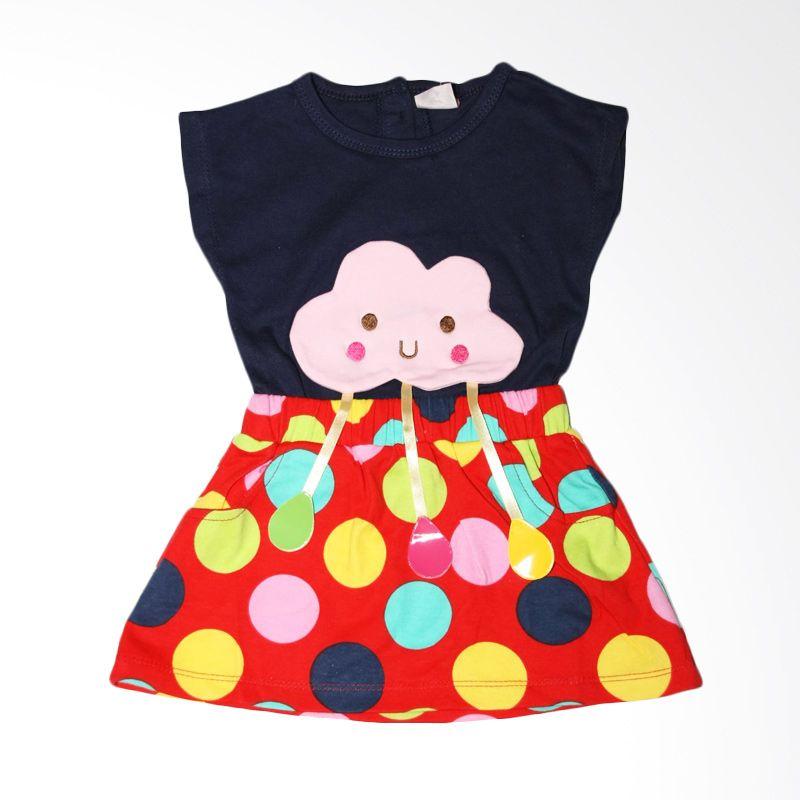 Nathanie Baby Cloud Navy Dress Bayi