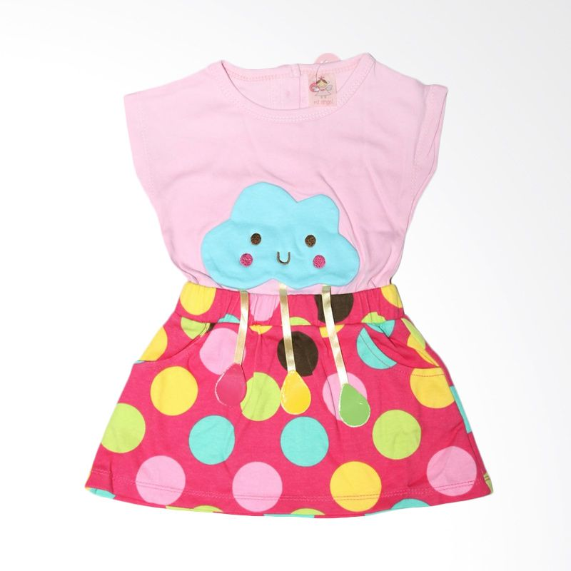 Nathanie Baby Cloud Pink Dress Bayi