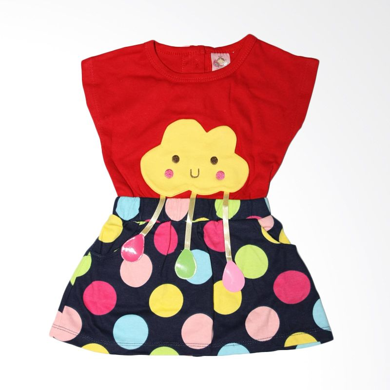 Nathanie Baby Cloud Red Dress Bayi