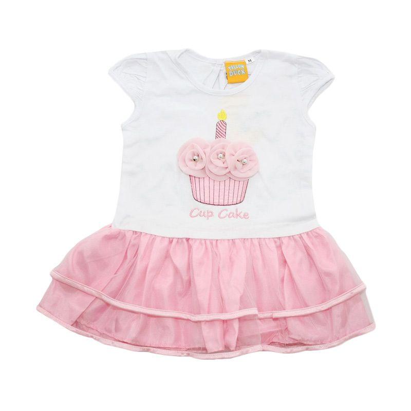 Nathanie Baby Cupcake Pink Dress Anak