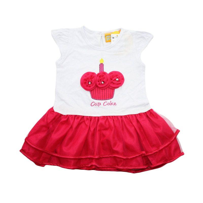 Nathanie Baby Cupcake Pink Fanta Dress Anak
