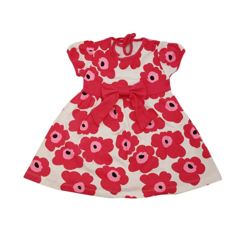 Nathanie Baby Flowers Pink Dress Anak