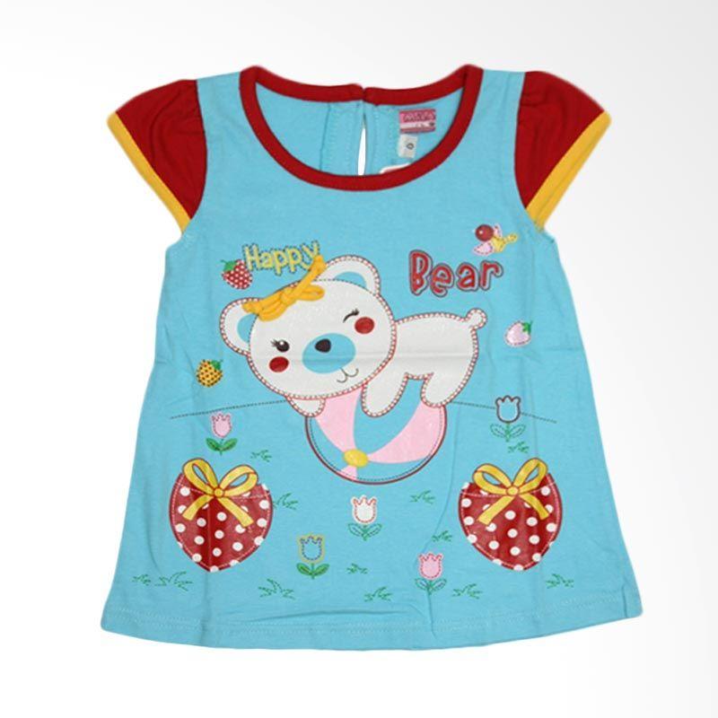 Nathanie Baby Happy Bear Blue Dress Anak