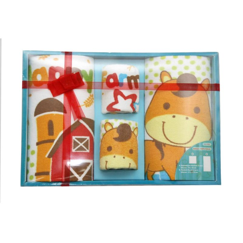 Nathanie Baby Happy Farm Red Gift Set