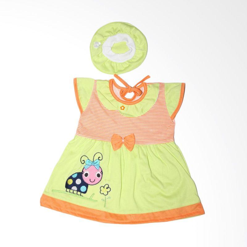 Nathanie Baby Jade Orange Dress Bayi
