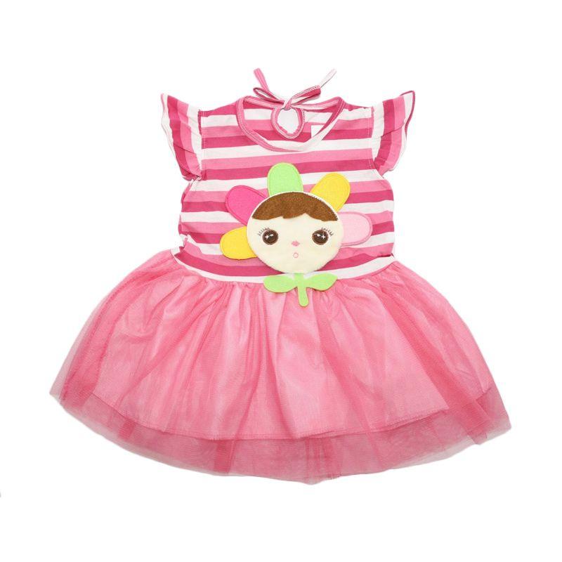 Nathanie Baby Jane Pink Dress Anak