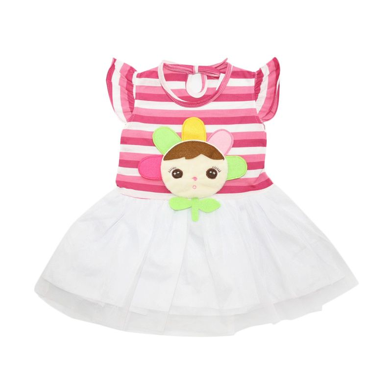 Nathanie Baby Jane White Dress Anak