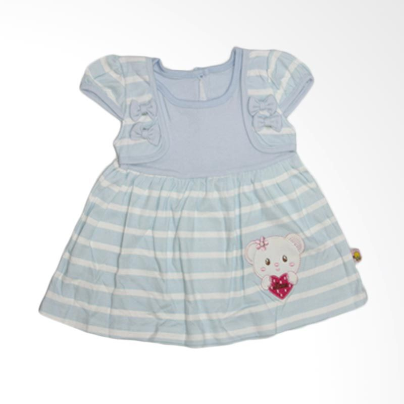 Nathanie Baby Little Bear Blue Dress Anak