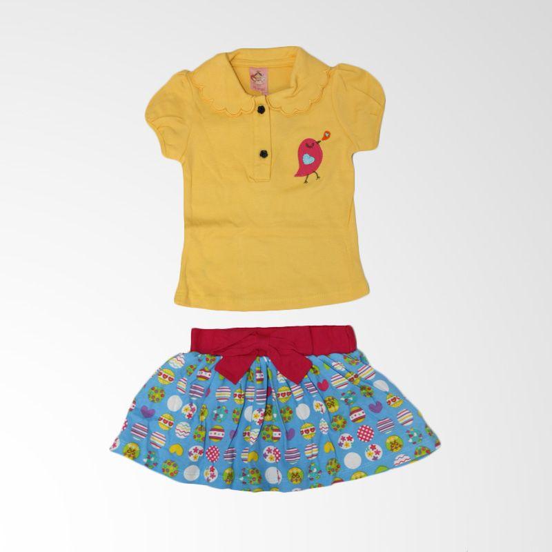 Nathanie Baby Little Bird Yellow Setelan Anak Perempuan