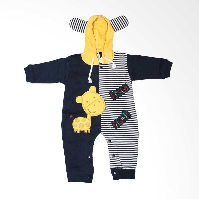 Nathanie Baby Little Friends Navy Jumpsuit Bayi